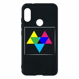 Etui na Mi A2 Lite Kolorowe trójkąty