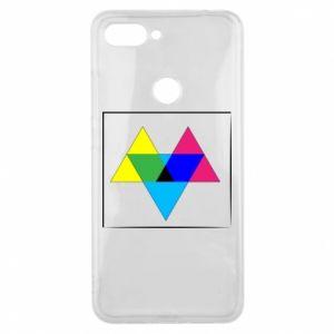 Etui na Xiaomi Mi8 Lite Kolorowe trójkąty