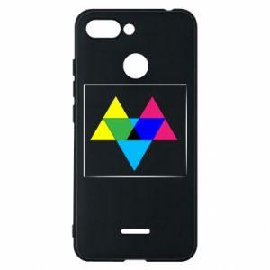 Etui na Xiaomi Redmi 6 Kolorowe trójkąty