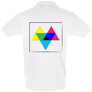 Koszulka Polo Kolorowe trójkąty