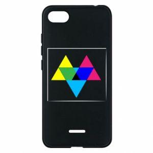 Etui na Xiaomi Redmi 6A Kolorowe trójkąty