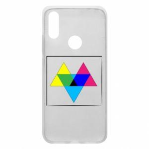 Etui na Xiaomi Redmi 7 Kolorowe trójkąty