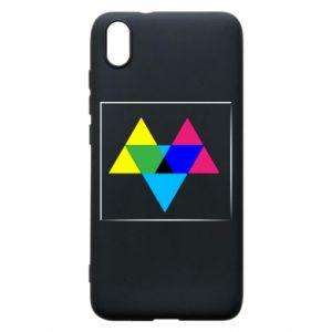 Etui na Xiaomi Redmi 7A Kolorowe trójkąty