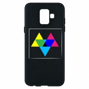 Etui na Samsung A6 2018 Kolorowe trójkąty