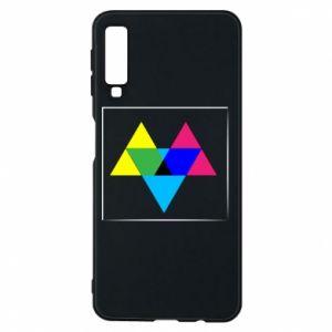 Etui na Samsung A7 2018 Kolorowe trójkąty