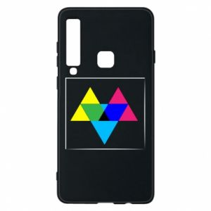 Etui na Samsung A9 2018 Kolorowe trójkąty