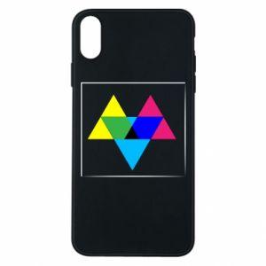 Etui na iPhone Xs Max Kolorowe trójkąty