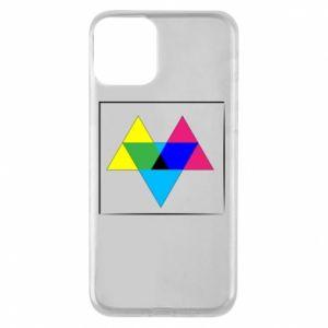 Etui na iPhone 11 Kolorowe trójkąty