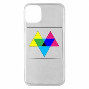 Etui na iPhone 11 Pro Kolorowe trójkąty