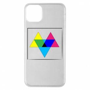 Etui na iPhone 11 Pro Max Kolorowe trójkąty