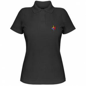 Koszulka polo damska Kolorowy wąż