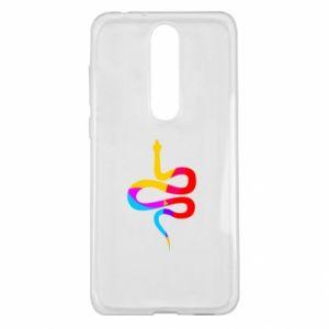 Etui na Nokia 5.1 Plus Kolorowy wąż