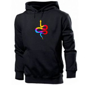 Men's hoodie Colored snake