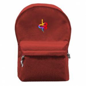 Plecak z przednią kieszenią Kolorowy wąż