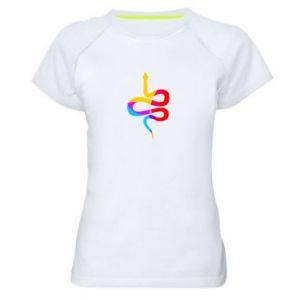 Koszulka sportowa damska Kolorowy wąż