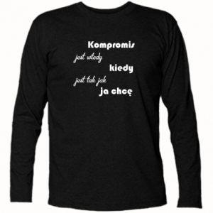 Koszulka z długim rękawem Kompromis