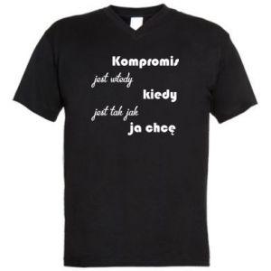 Męska koszulka V-neck Kompromis
