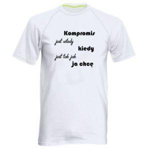 Męska koszulka sportowa Kompromis