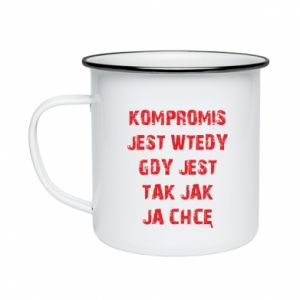Enameled mug Compromising... - PrintSalon