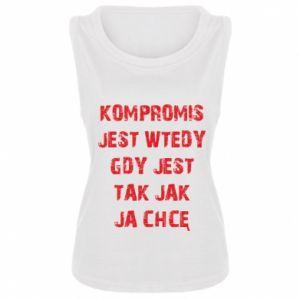 Women's t-shirt Compromising... - PrintSalon