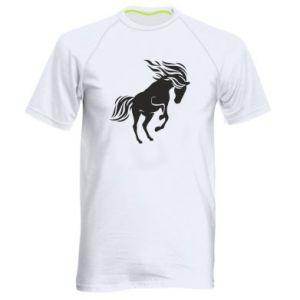 Męska koszulka sportowa Koń - Printsalon