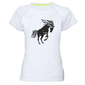Damska koszulka sportowa Koń - Printsalon