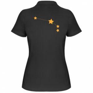 Damska koszulka polo Konstelacja Barana - PrintSalon
