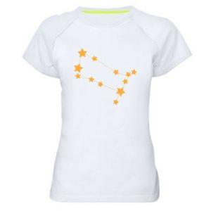 Damska koszulka sportowa Konstelacja Gemini - PrintSalon