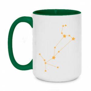 Two-toned mug 450ml Leo сonstellation