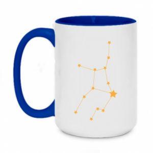 Two-toned mug 450ml Virgo Сonstellation