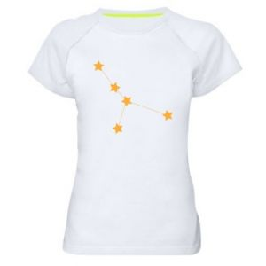 Women's sports t-shirt Cancer Сonstellation