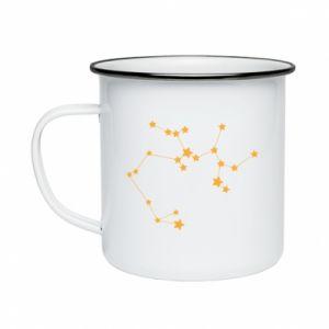 Enameled mug Sagittarius Сonstellation