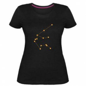 Damska premium koszulka Konstelacja Wodnika - PrintSalon