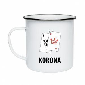Enameled mug Crown
