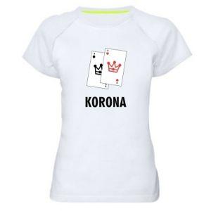 Damska koszulka sportowa Korona