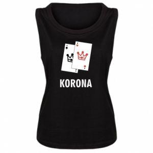 Damska koszulka bez rękawów Korona