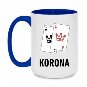 Two-toned mug 450ml Crown