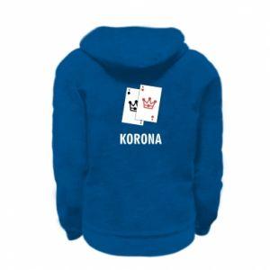 Kid's zipped hoodie % print% Crown