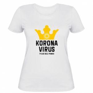 Damska koszulka Koronawirus