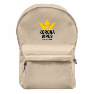 Backpack with front pocket Coronavirus