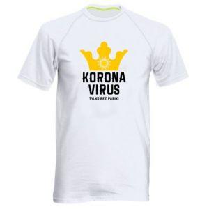 Męska koszulka sportowa Koronawirus