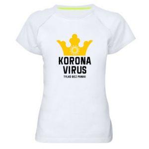 Damska koszulka sportowa Koronawirus