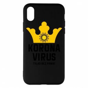 Phone case for iPhone X/Xs Coronavirus