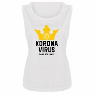 Damska koszulka bez rękawów Koronawirus