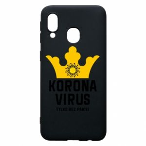 Phone case for Samsung A40 Coronavirus