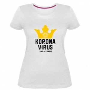 Damska premium koszulka Koronawirus
