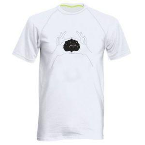 Męska koszulka sportowa Kosmos w rękach
