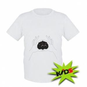Dziecięcy T-shirt Kosmos w rękach