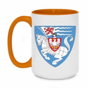 Two-toned mug 450ml Koszalin coat of arms