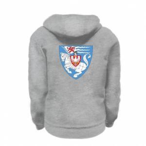 Kid's zipped hoodie % print% Koszalin coat of arms